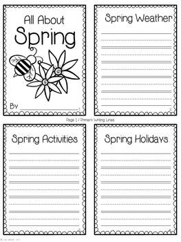 Four Seasons Bundle ~ Accordion Fold Mini-Book Activities