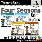 Preschool Centers and Circle Time - 4 Seasons Bundle