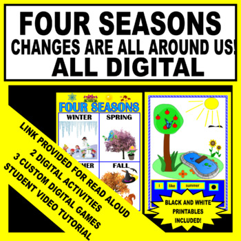 photo about Seasons Printable referred to as 4 Seasons - Modifications Are All Near Us (Electronic - Performed Effort Printable)