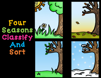 Four Seasons:  Sort and Classify Learning Mats