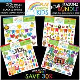 Four Seasons Clipart Bundle