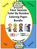 Color by Number, Math Center, Fine Motor Skills Activities, All Seasons  Bundle