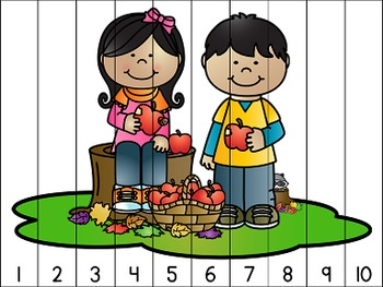 Four Seasons Counting Puzzles Bundle