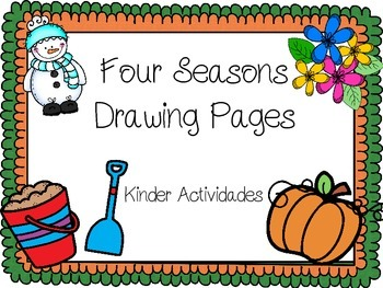 Four Seasons Drawing Pages for Elementary