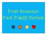 Four Seasons Fact Family Sort