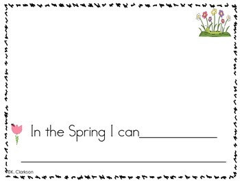 Four Seasons Guided Writing Booklet