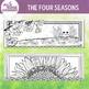 Four Seasons Horizontal Illustrations