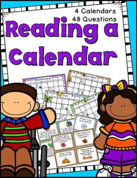 Reading a Calendar: 4 Calendars, 48 Task Cards, Answer Keys