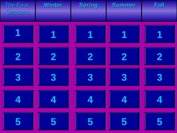 Four Seasons Jeopardy
