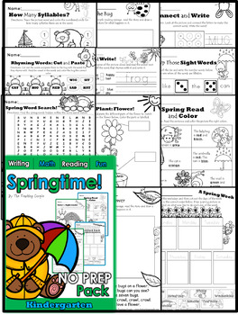 Four Seasons Kindergarten NO PREP Mega Bundle!