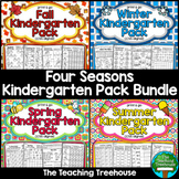 Four Seasons Kindergarten Pack Bundle, No Prep, CCSS Aligned