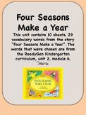 ReadyGen Four Seasons Make a Year Vocabulary, Kindergarten