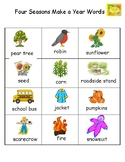Four Seasons Make a Year Vocabulary Word List