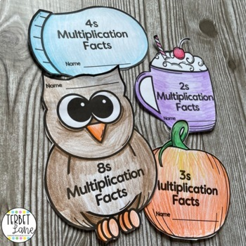 Four Seasons Multiplication Facts Practice Books Bundle
