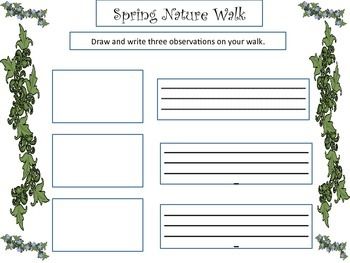 ESL Activity: Four Seasons Nature Walks-Early Primary and ESL Newcomers