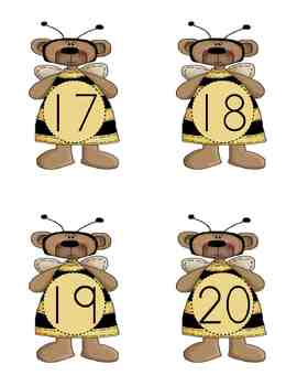 Four Seasons Number Flashcards