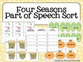 Four Seasons Part of Speech Sort