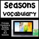 Four Seasons Picture Card Bundle (ELL, ESL, Vocabulary)
