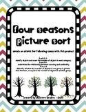 Four Seasons Picture Sort with Labels - Kindergarten CCSS