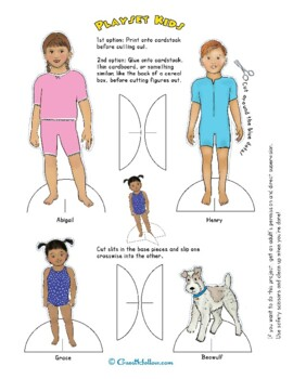 Four Seasons Paper Dolls and Playsets