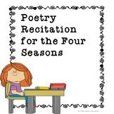 Four Seasons Poetry Recitation Activities