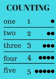 Poster | Counting 1 - 5
