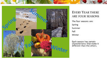 Four Seasons PowerPoint - Spring, Summer, Fall, and Winter