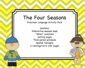 Four Seasons - Preschool Language Activity Pack