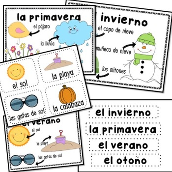 Four Seasons Primary Packet in Spanish
