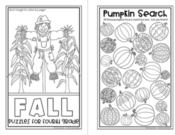 Four Seasons Puzzle Mini Books for Fourth Graders