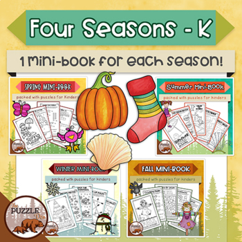 Four Seasons Puzzle Mini Books for Kinders