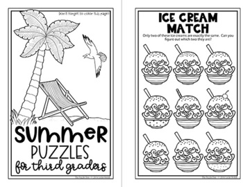 Four Seasons Puzzle Mini Books for Third Graders