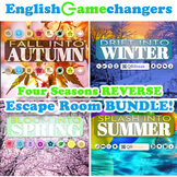 Four Seasons REVERSE Escape Room BUNDLE: Break IN to ANY Lesson or Content Area!