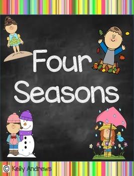 Four Seasons Rainbow Chalkboard