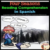 FREE Four Seasons Reading Comprehension In Spanish