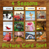 Four Seasons - Real Picture Sorting Activity Cards w/ Intr