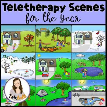Four Seasons Scenes Bundle: Open-Ended Activity for Teletherapy