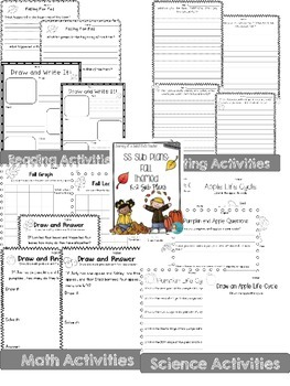 Four Seasons Sub Plans K-2  Combo Pack