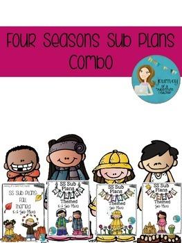 Four Seasons Sub Plans K-2  Combo Pack