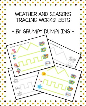 Four Seasons Tracing Worksheets