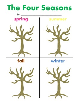 four seasons tree comparison by lucy northen teachers pay teachers. Black Bedroom Furniture Sets. Home Design Ideas