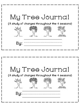 Four Seasons Tree Journal- A Yearlong Tree Observation Project