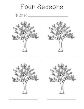 Four Seasons Tree Template