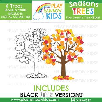 Four Seasons Trees Clipart