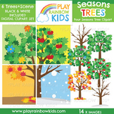 Four Seasons Trees Clipart