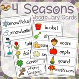 Seasonal Vocabulary Word Wall Cards plus Write and Wipe Version
