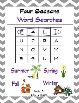 Four Seasons Word Searches