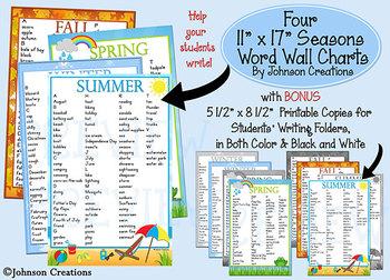 Four Seasons Word Wall Charts