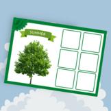 Four Seasons Worksheet - Sorting Game - Montessori Activity