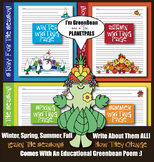4 Seasons TREE Writing Pages Bundle Poem Earth Science Coloring Lesson